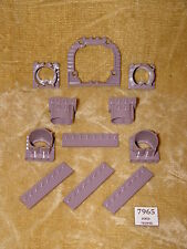 LEGO Parts: 11 piece SAND PURPLE parts LoM Rare Arch, Rail Plates, Tubes