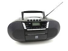 Dual DAB-P 200 Radio schwarz Boombox DAB+ Digitalradio Kassette CD USB