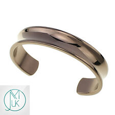 Fashion Men Women Solid Stainless Steel Open End Cuff Bangle Bracelet Rose Gold