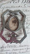 SWEET ANTIQUE FRENCH TIMEWORN ART DECO MINIATURE PHOTO PICTURE FRAME c1920