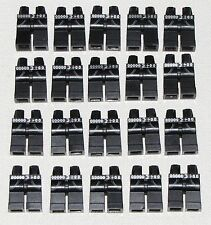 LEGO LOT OF 20 NEW MINIFIGURE LEGS BLACK WITH POCKETS JEANS TOWN CITY PANTS