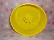 HAMSTER MOUSE YELLOW RESIN PLASTIC WHEEL OVAL SHAPE NEW!