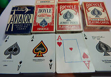 4 decks of U.S.A made cards Bicycle ,Hoyle and Aviator