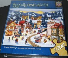 1000 pcs jigsaw puzzle Eric Dowdle Frosty Delivery Winter Masterpieces  240