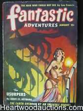 Fantastic Adventures January 1950 Monster assault Cvr