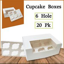 Cupcake Boxes 6  Hole 20 Pk Window Face Cake Boxes Cake Boards Wedding