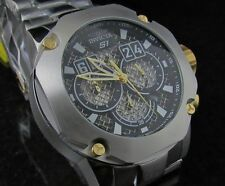 New Invicta S1 Rally SS Twisted Metal Chronograph Gold Accents SS bracelet Watch