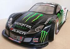 1/10 RC coche 190mm sobre carretera deriva Honda NSX GT Monster Energy Body Shell