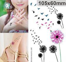 NiX S252 Temporary Tattoo Waterproof Wrist Dandelion Birds Flying 3 Sticker in 1