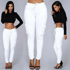 Lady Sexy Womens Skinny Stretchy Pocket Casual Slim Long Pants Trousers Leggings
