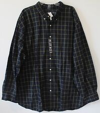 Polo Ralph Lauren Big & Tall Mens Black Green Checks Button-Front Shirt NWT 4XB