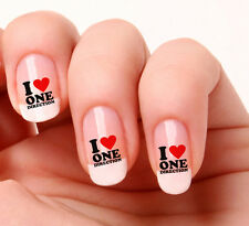 20 Nail Art Decals Transfers Stickers #714 - One Direction I Love One Direction