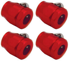 "Fuel Line Fittings Clamps Red for 1/4"" or 5/16 I.D. HOSE 4 qty 2162 Worm Gear"