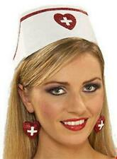 Nurse Hat with Printed Red Cross Costume Hat