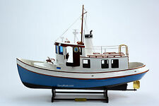 "Lord Nelson Victory Tugboat 28"" - Handmade Wooden Boat Model - RC Convertible"
