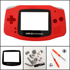 GBA Nintendo Game Boy Advance Replacement Housing Shell Screen Lens Red