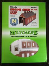 Metcalfe Kit PN931. Engine Shed Red Brick. Single Track.  N Scale.