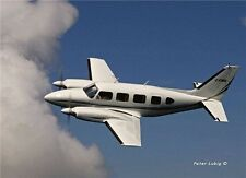 "1/6 Scale PIPER PA-31 NAVAJO CHIEFTAIN scratch build Rc Plane PLANS & Inst 76""WS"