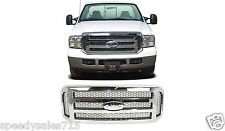 Replacement Chrome Grill For 2005-2007 Ford F250/F350/Excursion New Free Ship