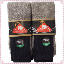 6 Pairs Men's Super Warm Heavy Thermal double Insulated Winter Socks Size 9-15