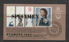 HONG KONG 1963 Anniversary Specimen Overpint Stampex Sheet NEW LOWER PRICE FP930