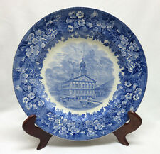 Old Wedgwood JMS Blue & White Historical Faneuil Hall Transfer Plate
