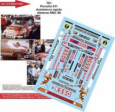 DÉCALS 1/18 réf 761 Porsche 911 Assistance rapide Almeras Monte Carlo 1980