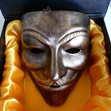 Luxury Gift Box Resin V FOR VENDETTA Anonymous Guy Fawkes Halloween Party Mask