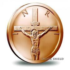 2016 Silver Shield Crucifixion 1 oz Copper BU Round Easter Jesus US Bullion Coin