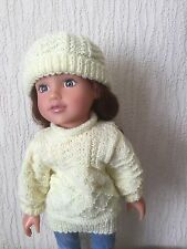 HAND KNITTED DOLLS CLOTHES FOR AMERICAN GIRL / DESIGNAFRIEND AND SIMILAR  (AG 26
