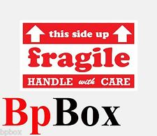 Handle With Care Shipping Mailing size 3x5-100 labels Comparable to ULINE S-5947