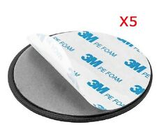 GA-013 x 5: 3M Adhesive Discs (5-pack) for Garmin TomTom GPS suction cup Mount