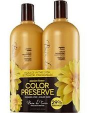 Bain de Terre Passion Flower Color Preserving Shampoo + Conditioner Liter Combo