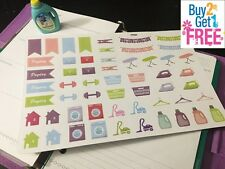 PP064 -- 55 Small Cleaning Stickers Life Planner Stickers for Erin Condren