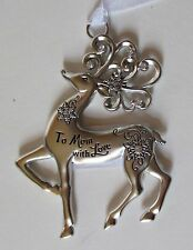 AAD To Mom with love Merry Reindeer Christmas Ornament Ganz Car Charm