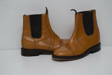 NPS CHELSEA ANKLE DEALER BOOTS REAL LEATHER TAN BROWN SIZE UK 6 EUR 39 or 39.5