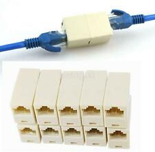 10PCS RJ45 Female to Female Network Ethernet Lan Cable Joiner Connector new