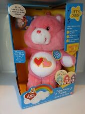 Brand New PINK Care Bears Love-a-Lot BearTalking Moving Singing Plush Bear