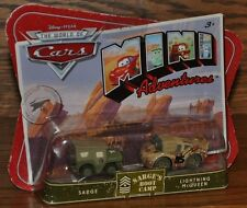 Disney Pixar Cars Mini Adventures Sarge and Lt McQueen Sarge's Boot Camp NEW
