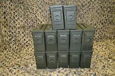 (12 PACK ) 7.62 / 308 Cal M19A1 AMMO CAN VERY GOOD CONDITION  ** FREE SHIPPING**