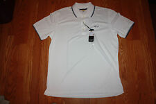 NWT Mens GREG NORMAN White Play Dry Performance Polo Shirt 3XL XXXL