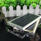 Ultrathin 100000mAh Solar Battery Power Bank USB Charger For iPhone Samsung HTC