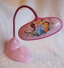 """Disney Princess Child Desk Lamp Pink LED Lights 6.5"""" Flexible Neck Original"""