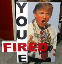 """STEVE KAUFMAN: DONALD TRUMP """"YOU'RE FIRED"""" HAND SIGNED: AMAZING CONDITION & COA."""