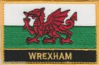 Wrexham Wales Cymru Town & City Embroidered Sew on Patch Badge