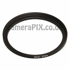 62mm a 67mm stepping maschio-femmina intensificare FILTRO ANELLO ADATTATORE 62-67 62mm-67mm UK