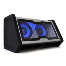 "2000 WATT CAR HIFI BASS TWIN 10"" WOOFER SUB BOX LED NEW CUSTOM SUBWOOFER SYSTEMS"