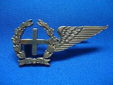 PORTUGAL PORTUGUESE ARMY MILITARY PRIESTER PADRE CHAPLAIN HALF WINGS BADGE 51mm