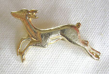 Brooch / Pin . Leaping Deer , Gold Coloured Body
