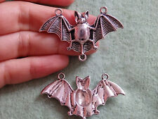 1 large bat charms pendant beads Tibetan silver antique jewellery making craft